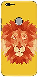 The Racoon Grip printed designer hard back mobile phone case cover for Google Pixel XL. (Fire Fract)