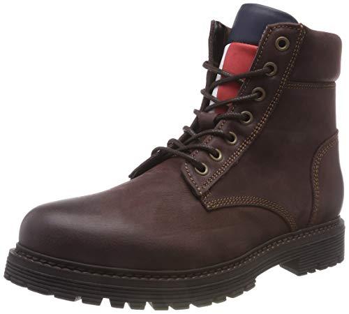Hilfiger Denim Herren Iconic Tommy Jeans Nubuck Chukka Boots, Braun (Coffee Bean 212), 42 EU