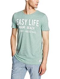 Tom Tailor Denim Summer Basketball Print Tee, T-Shirt Homme