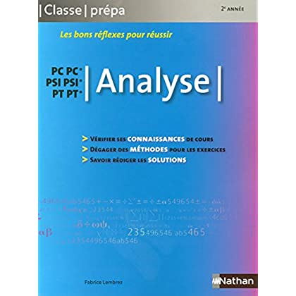 Analyse PC, PC*,PSI,PSI*,PT,PT*