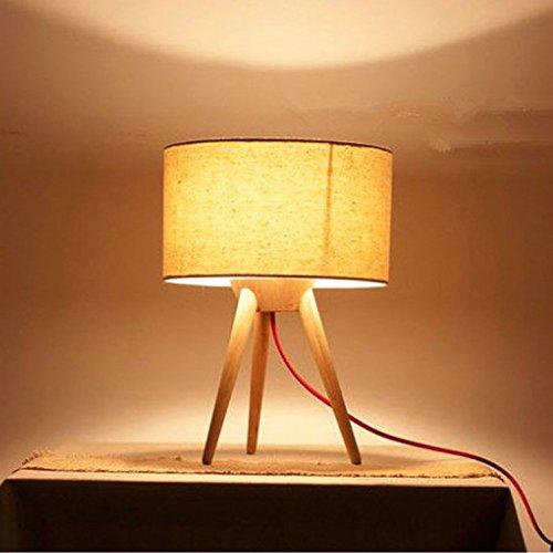 HZF-La lámpara de la mesilla de noche, dormitorio, decoración simple regalo creativo moderno, lámpara, lámpara de madera maciza,Lámpara