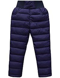 LSERVER Pantalones de Nieve de Invierno para bebé niños Pantalones Térmicos Cintura Alta Aire Libre