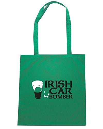 T-Shirtshock - Borsa Shopping TIR0087 irish car bomber dark tshirt Verde