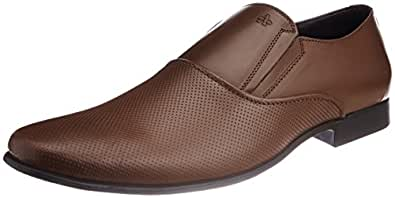 Arrow Men's Dark Tan Leather Formal Shoes -10 UK/India (44 EU) (11 US)