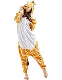 Unisex Animal Pijama Ropa de Dormir Cosplay Kigurumi Onesie Jirafa Disfraz para Adulto Entre 1,