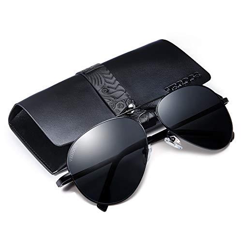 Vegoos uomo occhiali da sole aviatore polarizzate di guida con il caso protezione uv 400 specchio lenti metallo telaio 3025mc15