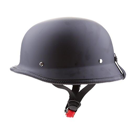 MagiDeal Neuheit Motorradhelm Halbhelm Sturz Helm fünf Farbwahl - Matt-schwarz XL