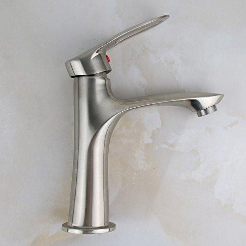 QH Faucet Badewannenarmaturen Waschtischarmaturen Waschraumarmaturen 304 Edelstahl Bad Warm und Kalt Wasserzeichnung Waschbecken einzelnes Loch einzelner Hahn Wasserhähne