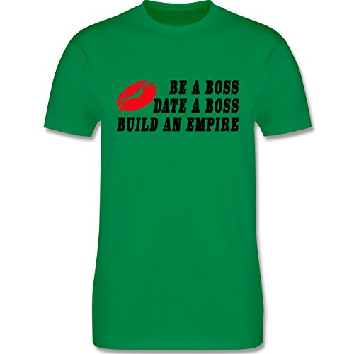 Statement Shirts - KISS - BE A BOSS - DATE A BOSS - BUILD AN EMPIRE - Herren Premium T-Shirt Grün