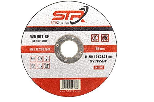 100 Stück Trennscheiben 125 x 1,0mm x 22,23mm für Metall, INOX, Stahl Flexscheiben in Profi Qualität WA 60 T BF