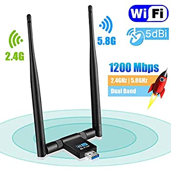 SeeKool Wifi Dongle High Speed Internet 5GHz 600Mbps Wireless USB Wifi Adapter for PC//Desktop//Laptop//Tablet Supports Windows 10//8//7//Vista//XP//2000 Mac Os X 10.4-10.11.4 and 10.12.1