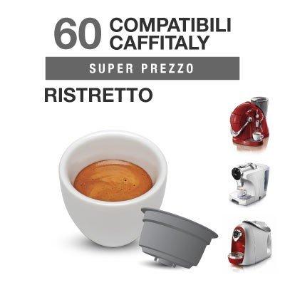 Caffitaly Cápsulas Compatibles cremoso-Ristretto-Intenso-Descafeinado 300 RISTRETTO