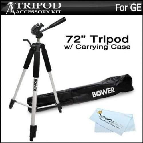 Pro 72Super fuerte trípode con suave Deluxe funda de transporte para GE Power Pro Series X500, X5, X550Power Pro cámara Digital