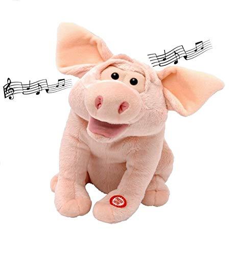 Izzy Singendes Schwein m.Musik Plüschtier beweglich