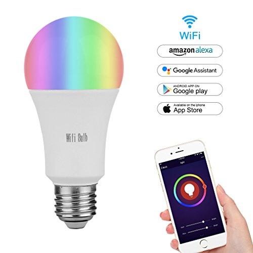 MARRYME Ampoules LED Connectées Wi-Fi E27,7W équivalent...