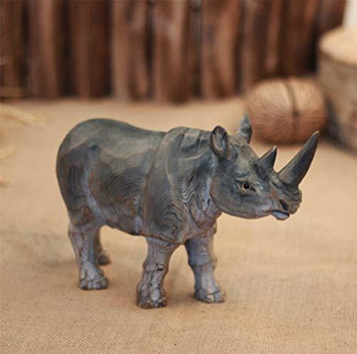 AINIYF Afrikanische Safari Grasslands Nashorn Tier dekorative Figur/Lange Nashorn Statue gefährdete Wildlife Decor / 9.5×7.5inches
