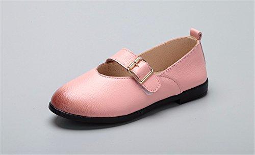 Les filles en cuir noir Chaussures Enfant Princesse fête des élèves de l'école Mary Jane Chaussures Casual Chaussures de soirée Partie Demoiselle Chaussures Bar Rose