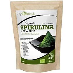Bio Spirulina Pulver (500g) | MySuperFoods | Vollgepackt mit Protein, Kalzium und Vitaminen | Nährstoffreich | Höchste Qualität verfügbar | Zertifiziert von der Soil Association
