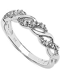 La Colección Anillo de Diamante: Anillo de Diamantes de 0.05ct en 3 lineas Anillo