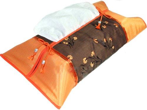 artiwa-orange-silk-kleenex-tissue-box-cover-with-orange-and-brown-oriental-floral