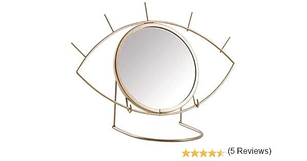 ALANG Specchio da Tavolo Portatile Rimovibile Nordic Multi-Funzione per Specchio da Bagno Portatile Specchio per Trucco Creativo per Bellezza Specchio Occhio 1