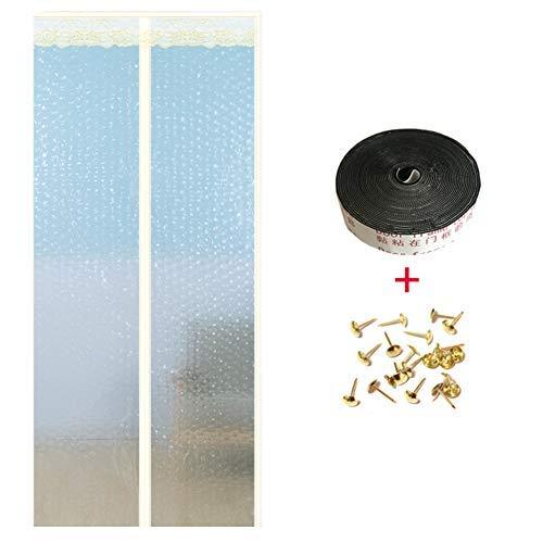 YSA Heavy Duty Magnetic Screen Tür, Anti Insect Bug Off Mesh Türscheibe mit Magnet, Selbstdichtende Winddicht Pet und Kid Friendly-c 85x200cm (33x79inch) -
