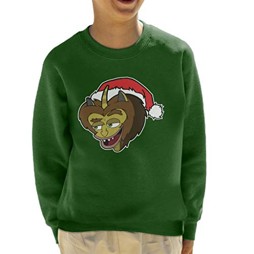 Cloud City 7 Big Mouth Maurice The Hormone Monster Christmas Hat Kid's Sweatshirt