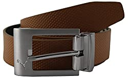 Puma Mens leather Belt (5297701_Black and White_small)(4056204910924)