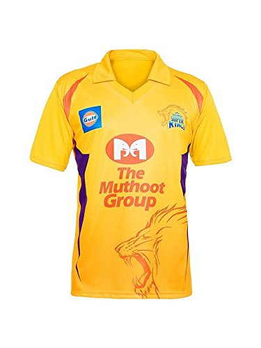 Roots4creation Unisex Polyester Chennai Super Kings Jersey 2018 (Yellow, XXXL)
