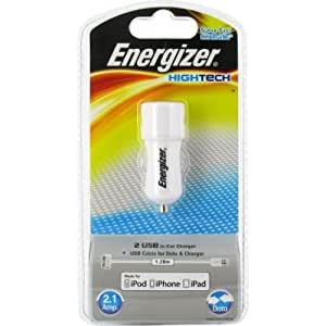 """Chargeur allume-cigare """"HighTech"""" 2USB pour iPhone / iPod / iPad"""