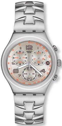 Swatch YCS502G - Orologio da polso da uomo, cinturino in acciaio inox colore argento