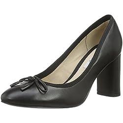 Clarks Damen Idamarie Faye Pumps, Schwarz (Black Leather), 40 EU