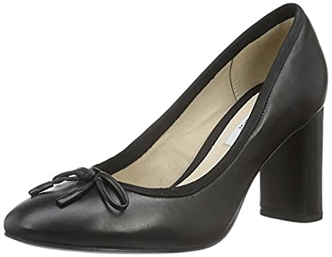 Clarks Women's Idamarie Faye Closed-Toe Pumps, Black (Black Leather), 37