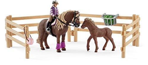 Preisvergleich Produktbild Schleich 42363 - Reiterin mit Island Ponys Figur