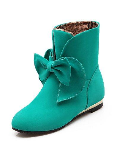 ShangYi Mode Frauen Schuhe Damenschuhe Stiefel Mode Plattform / Outdoor / Büro & Karriere / Casual Keilabsatz OthersBlack &A-1 Gelb