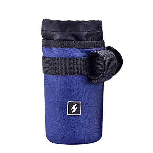 tel Polyester Sport-Wasser-Flaschen-Halter Wasserdicht Fahrradlenker Kettle Tasche Radfahren Sundries Halter Getränk-Wasser-Flaschen-Speicher-Beutel Dunkelblau ()