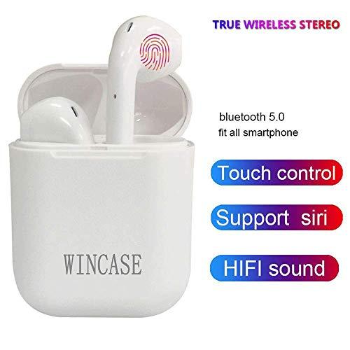 Bluetooth Kopfhörer V5.0 kopfhörer kabellos in Ear Headset Stereo-Minikopfhörer Sport Wasserdicht mit Ladekästchen & Integriertem Mikrofon für Kompatibel mit Allen Smartphones