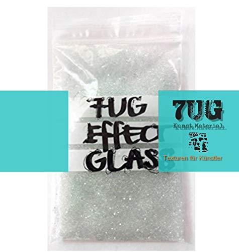 7UG-Effectglass: Glas Kügelchen (ca. 1mm) für Mixed Media Künstler/zur Einarbeitung in Acrylbinder oder Gelmedium/toller Transparenz-Effekt!
