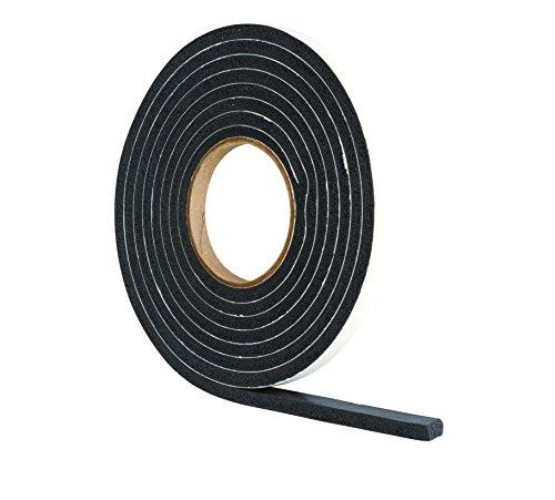Extra dicke Zugluftstopper aus Gummischaum für Lücken 4-7 mm, 3,5 m, Schwarz