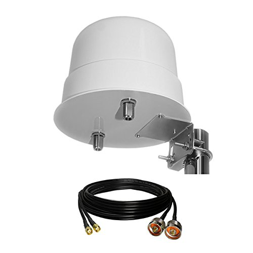 3G/4G LTE 12dBi Outdoor Dome Antenna 800-2600MHz + Duplex Cable 5m