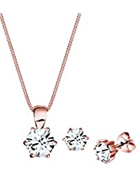 Elli Damen-Schmuckset Halskette + Ohrringe 925 Silber