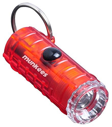 munkees LED Mini Taschenlampe mit Schlüsselanhänger klein, Rot, 1094