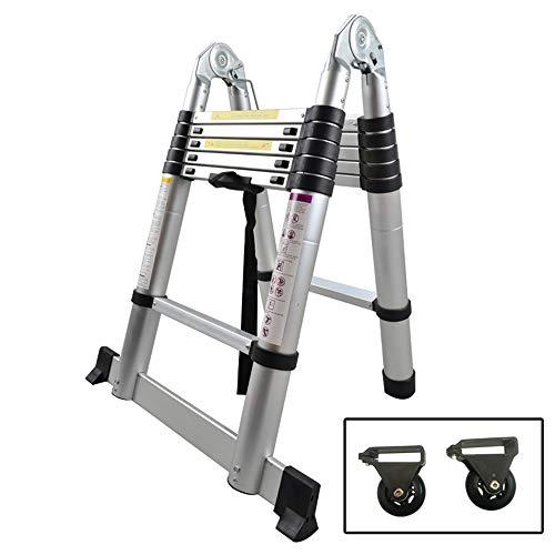 SAILUN® Escalera Telescópica Plegable Extensible Bisagras de Aluminio de alta Calidad Diseño Telescópico...