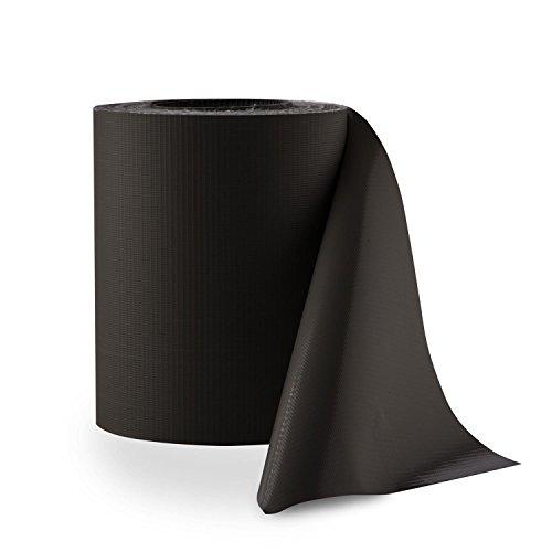 Blumfeldt Pureview Sichtschutz Windschutz (35 m x 19 cm Rolle, inkl. 30 Klemmschienen, 450 g/m² PVC-Folie, blick- und winddicht, reißfest,...