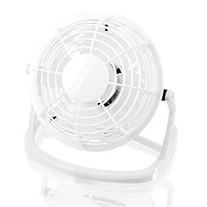 CSL - Mini Ventilateur USB | Mini ventilateur de bureau / Fan | ordinateur / ordinateur portable | en blanc