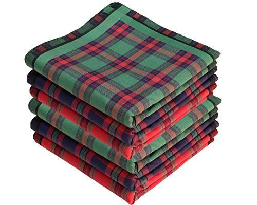 bilberry Stofftaschentücher 6 Stück ca.40x40cm reine Baumwolle Herrentaschentücher Highland