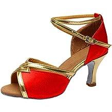 Btruely Mujeres&Niña Zapatos Latinos de Baile Zapatillas de Baile de Salón Salsa Tango Performance Calzado de