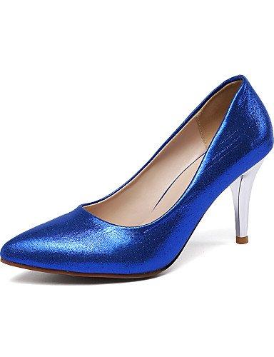 WSS 2016 Chaussures Femme-Bureau & Travail / Décontracté-Bleu / Rouge / Argent / Or-Talon Aiguille-Talons / Bout Pointu-Talons-Tissu red-us6 / eu36 / uk4 / cn36