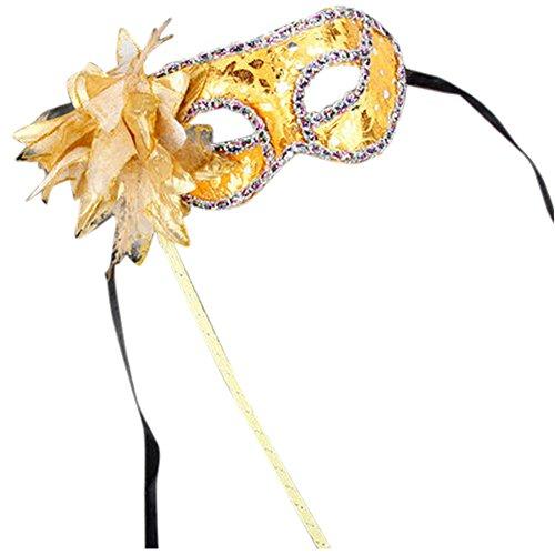 ken auf Sticks für Frauen Masquerade Ball Eye Masken Prinzessin Venedig Pailletten-Maske Hand Held (Hand-held-maskerade-masken)