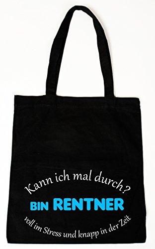 Baumwollbeutel Tasche Bag – Kann ich mal durch – bin Rentner… – witziger Spruch